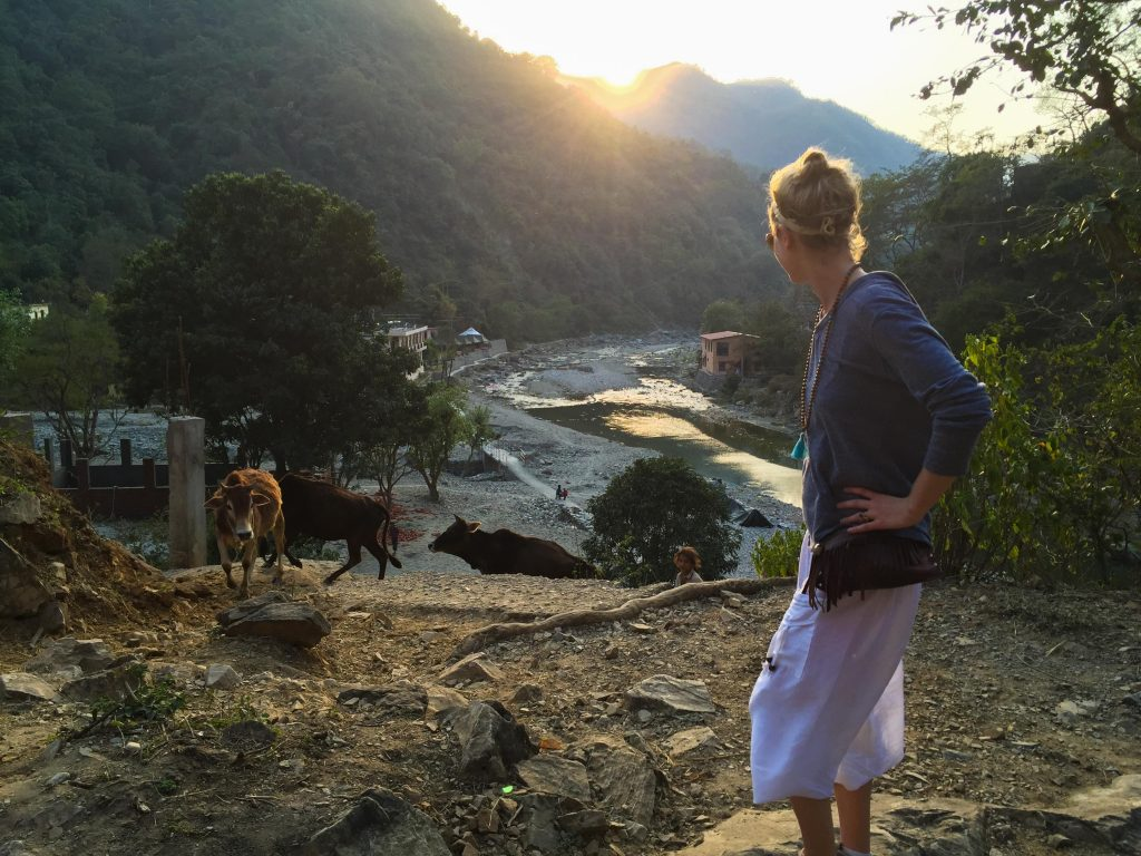 Heather in Rishikesh, India